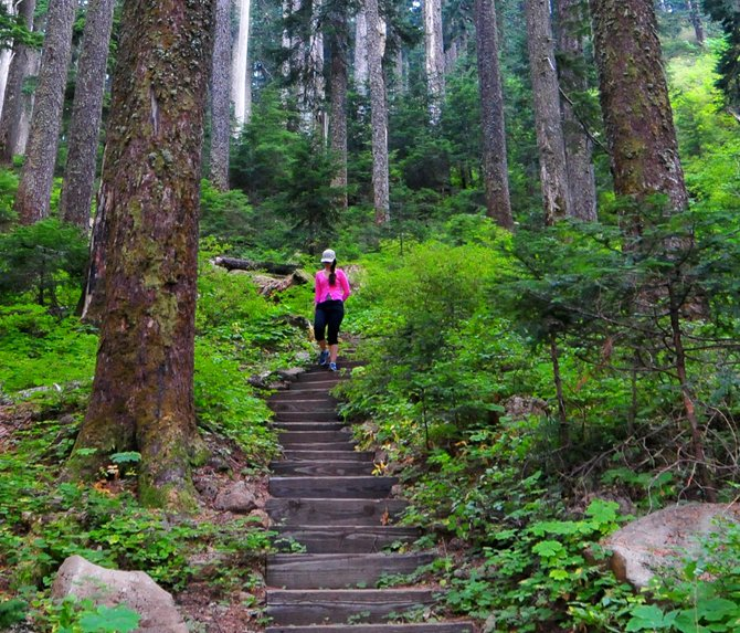 Take a hike: Late summer is a perfect time to visit this majestic trail and mountain lake. Temperatures are cool, crowds are gone for the season and the area is carpeted with delicious huckleberries. Don't know where this is? Check the Hood River News Facebook page to find out.