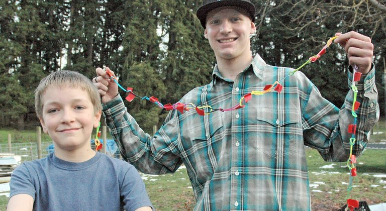 Giving a gift  from the heart, Jaydon Gabriel, 13 has been selling glow sticks and bracelets as a fundraiser for Donovan Doroski, 19, who has been undergoing treatment for Stage 4 Hodgkin's lymphoma.