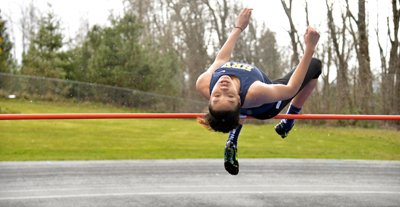 taking charge, HRV track athletes Jestena Mattson won events in a home meet Wednesday afternoon at HRVHS.