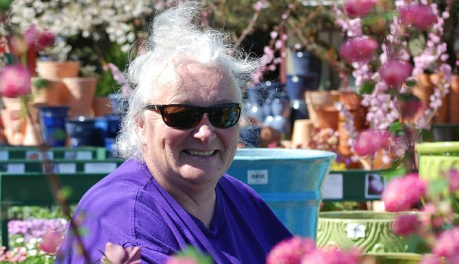 Rhea Hergenrather tends to her growing business at Good News Gardening which includes flowers, baked goods and local art.