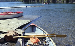 A refurbished rowboat at Lost Lake.