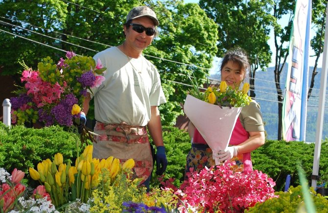 Mother's Day looms and for those needing blooms, Lee Vang and Sulina Lao are serving them up fresh at the Hood River Saturday Market in the parking lot of the Hood River News 419 State St., 9 a.m.-3 p.m. Other great gifts await with arts and crafts vendors, garden plants and delectable treats.