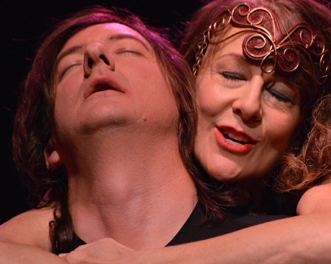 "MACBETH AND LADY MACBETH — Joe Garoutte and Desiree Amyx-Mackintosh — put passion into their roles. In the 2011 CAST production of ""Doubt,"" they sparred as opposing priests."