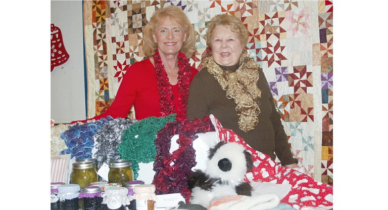 Handcrafted gift items made by women of the church and friends will be on sale at the annual Sunnyside  Holy Trinity Episcopal Church bazaar scheduled for Saturday, Nov. 16, from 9 a.m. to 2 p.m., according to Carolyn Gardner and Carol Mercer, event promoters (L-R). The church women will also be offering refreshments for sale during the bazaar shopping experience.