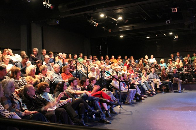 """The Friday night crowd filled the theater for the Mt. Hood Independent Film festival. Filmmakers including Lydia Smith who directed """"Walking the Camino,"""" and Barret Rudichin who directed """"A Place of Truth"""" were on hand for Q&A sessions after their films were shown."""
