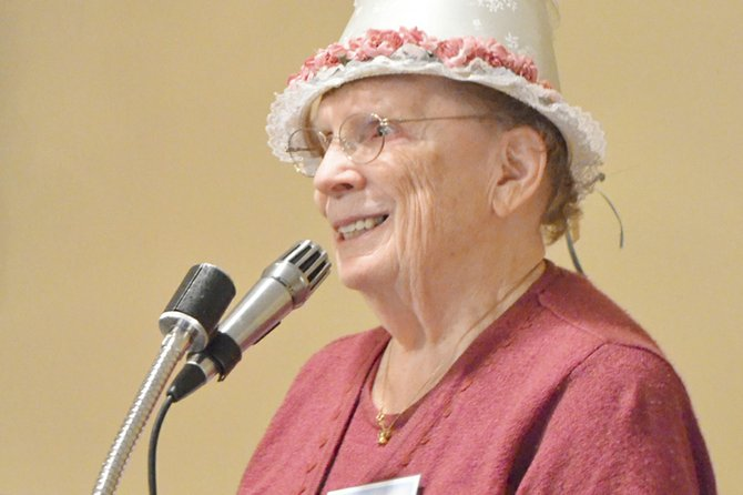 Loris Ketter is very fond of the many hats she owns. At Tuesday's Lower Valley Christian Women's Connection meeting she proudly shared them with those in attendance.
