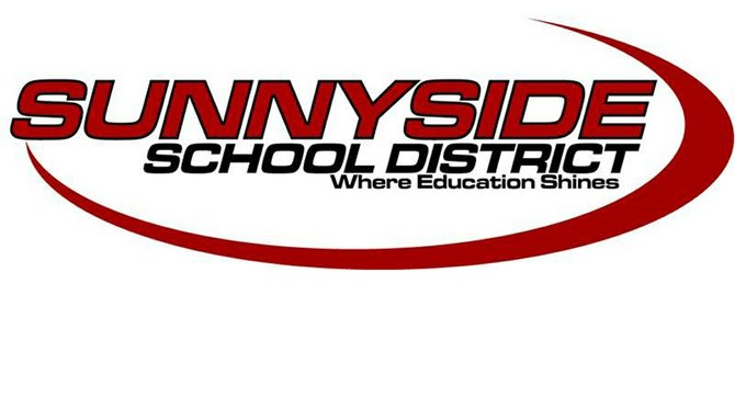 The current logo for the Sunnyside School District (shown here) replaced a logo made up of S's with silhouettes of children in them. The district wants a new logo that is less generic-looking and reflects the success of Sunnyside schools in improving the graduation rate. Local residents are being asked to fill out an on-line survey to help school district officials learn about the public's perception of Sunnyside schools.