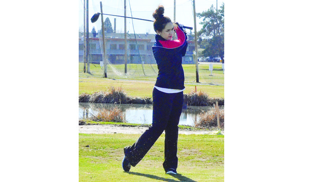 The brother and sister combo of John and Jacquie Kranz hit the links at Black Rock Creek Golf Course yesterday. The siblings are members of Sunnyside High School's golf team, which hosted a nine-hole jamboree that drew golfers from Grandview and Prosser. Jacquie, pictured above, toured the front nine with a 70. John, pictured at right putting on the sixth green, carded a 68 Tuesday afternoon. The one other Grizzly who competed yesterday was senior Ethan Partch, who shot a team-low 55.