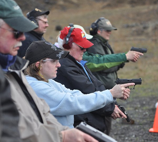 Citizens On Target  Eleven participants attended an all-day basic handgun firearms class last Friday, April 4.