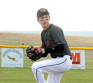 Grangeville's Shane Wood, pictured pitching during an April 10 win over Kendrick, went 1-1 last week.