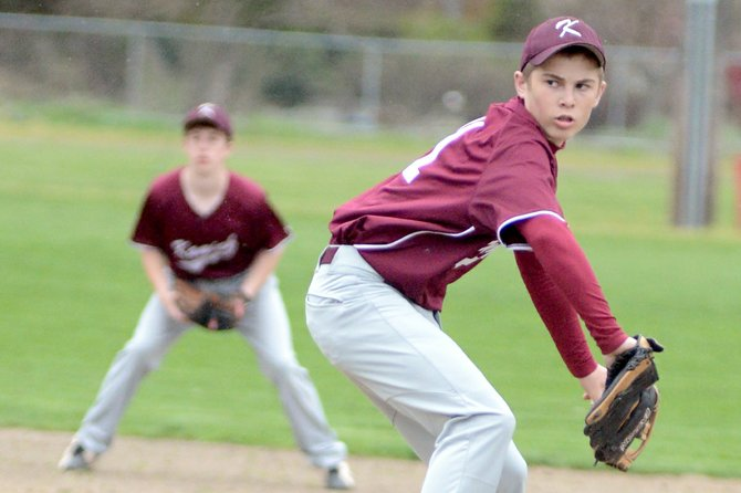 Kamiah's Branson Ballantyne struck out 11 in an April 17 win over Clearwater Valley.