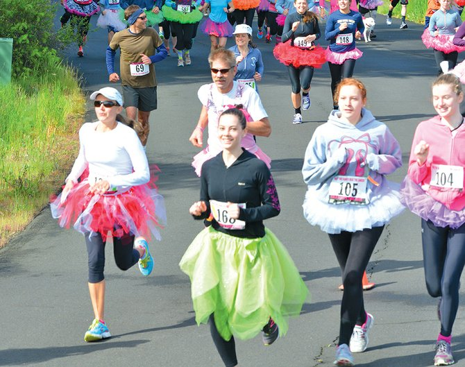 About 400 people turned out--many wearing tutus--in support of the three-year-old, who is undergoing treatment for stage 4 neuroblastoma.