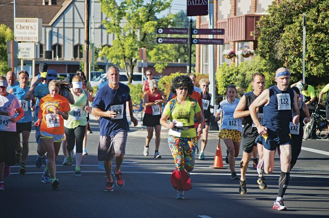 More than 150 participants took part in the Summerfest Fun Run in 2013.The race returns on Saturday morning.