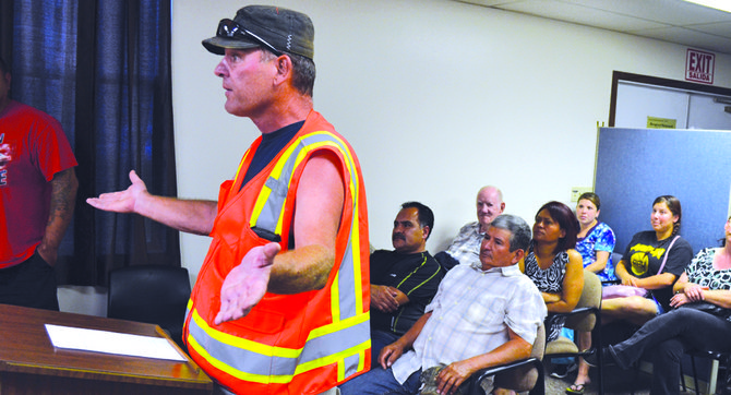 Marshall Dawson was one of several Mabton residents expressing concern and outrage during last night's city council meeting.