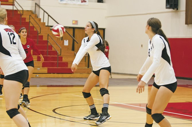 Sophomore outside hitter Christie Colasurdo will see significant action for the Wolves during the season.