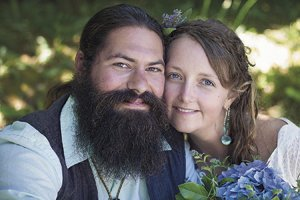 Megan Minar O'Driscoll and Chad Carter Key were married July 19.