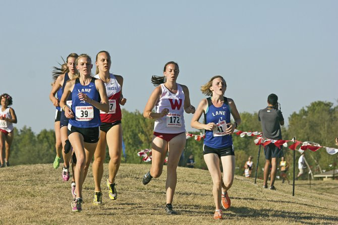 Western Oregon senior Nicole Anderson (172) placed 21st on Friday. She was the Wolves' top finisher.
