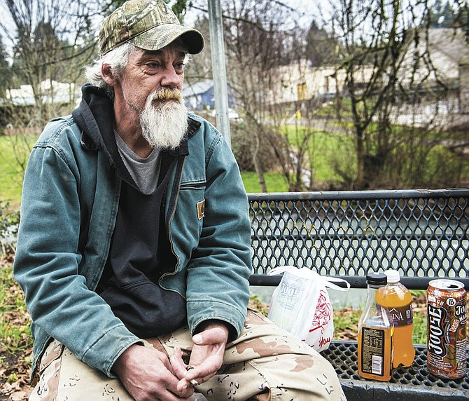 Jason Littleton recalls living homeless in a park in Falls City for two years. He now has a roof over his head.