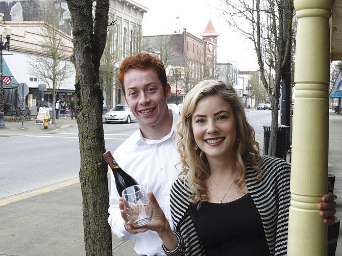 Cody Stover and Kiersten Kreusser will toast the towns of Independence and Monmouth during Saturday's Wine-Down Downtown wine walk, sponsored by OSU Enactus.