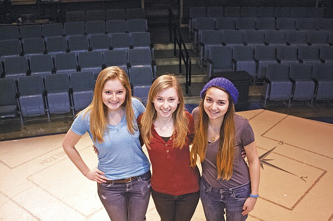Selena Harris, Rachel Tilgner and Alicia Scherer will be representing Dallas High School at Oregon Thespians State Festival  this week, competing in acting and tech divisions.