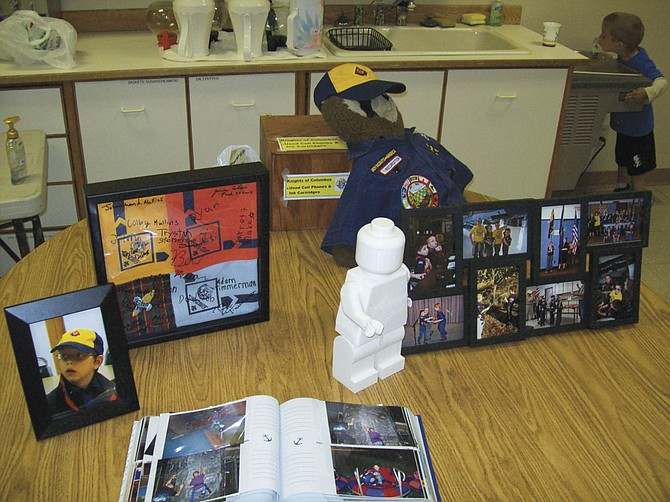 """Items commemorating Daniel Indra were set up as part of the """"Spirit of the Eagle"""" award presentation that took place at St. Philip Catholic Church in Dallas on May 11."""