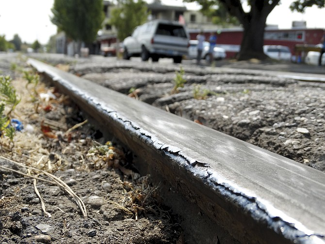 Work on the railroad on Second Street is expected to be completed by Monday or Tuesday.