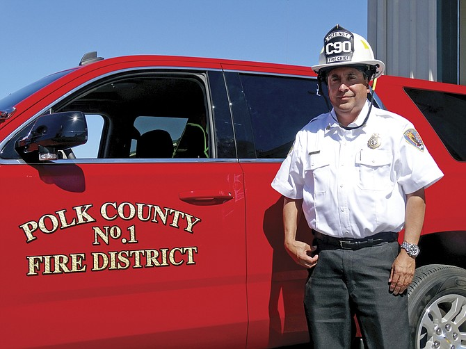 Polk County Fire District No. 1 Chief Al Alcalde plans to be visible in the community, both on and off an ambulance or fire engine, by volunteering and attending events.