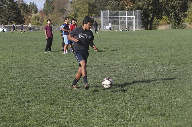 Central sophomore Aaron Padilla plays varsity soccer and runs on the varsity cross-country team.