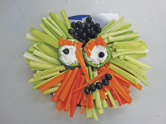 """Tricks or Treats? It's not all about the candy. A """"Monster Veggie Plate"""" can satisfy any monster both young and old this Halloween."""