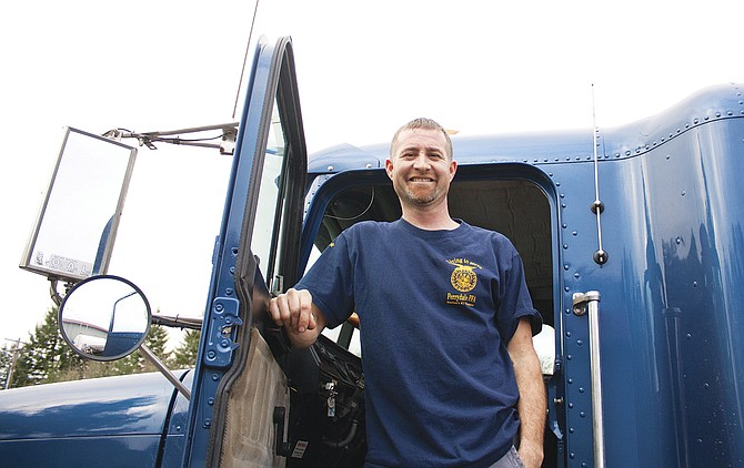 John Cruickshank has volunteered his truck for Food For All for more than 10 years.