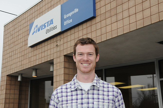 Jeff Schwendener is the new Grangeville District Manager for Avista Corporation. He is seen here in front of the 201 E. Main Street office.