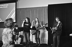 The youth worship team plays and sings at a recent service at Real Life Church in Grangeville.