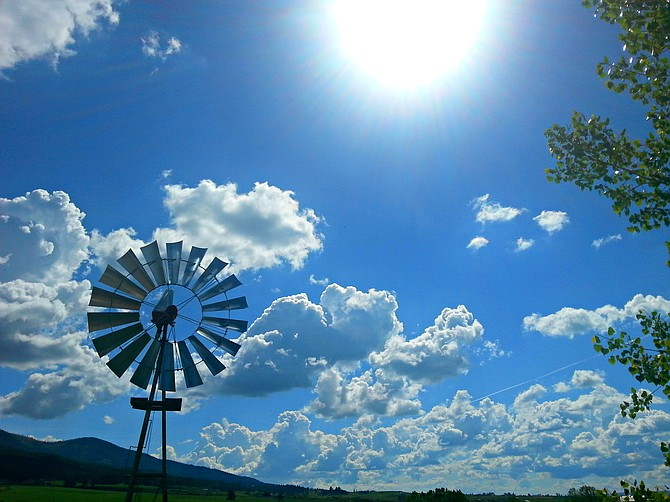 By Hailey Russell Blue Skies ~ a beautiful, blue-skied sunny day on the Camas Prairie near Mt. Idaho.