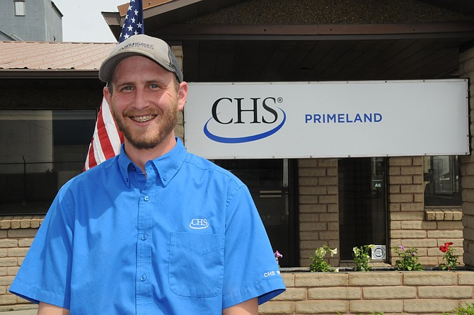 Joel Wasem is the new South Prairie Location Manager at CHS Primeland. He is pictured here in front of the Grangeville office.