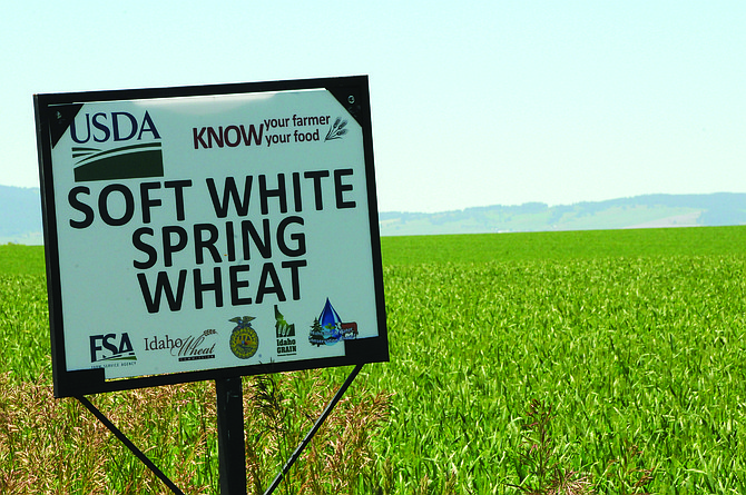"""The """"Know Your Farmer, Know Your Food"""" program is sponsored by USDA and a variety of Idaho agricultural organizations and businesses. This sign is located on U.S. Highway 95 between Grangeville and Fenn."""
