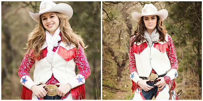 Photos courtesy of Shilo Bradley Photography  Border Days 2016 Queen Maggie Chmelik (left) and Princess Hailey Russell.