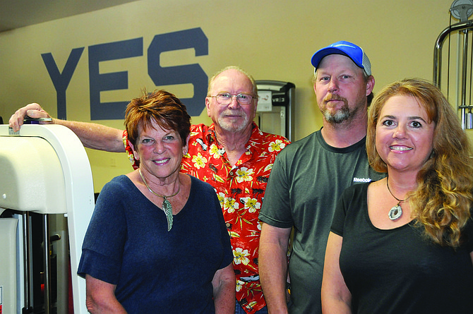 Grangeville's Groaners' owners (L-R) Julie and Paul Hauger have sold their gym to The Gym owners Lance and Eve McColloch.