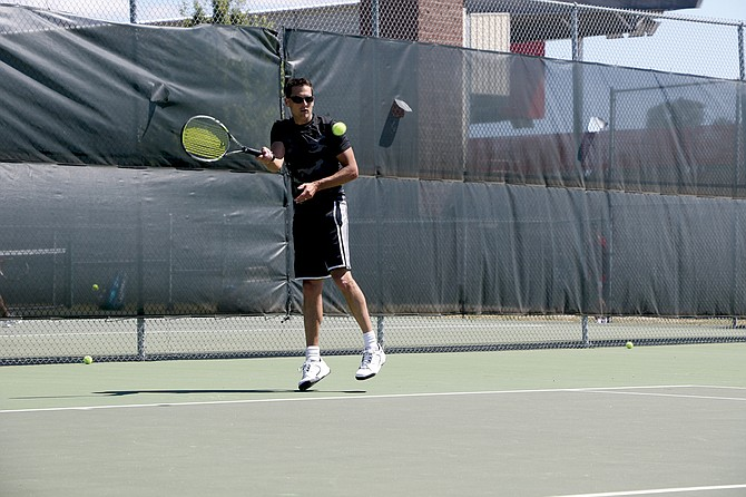 Justin Toews took first in the men's 3.0 bracket at the Monmouth-Independence Fourth of July Tennis Tournament.