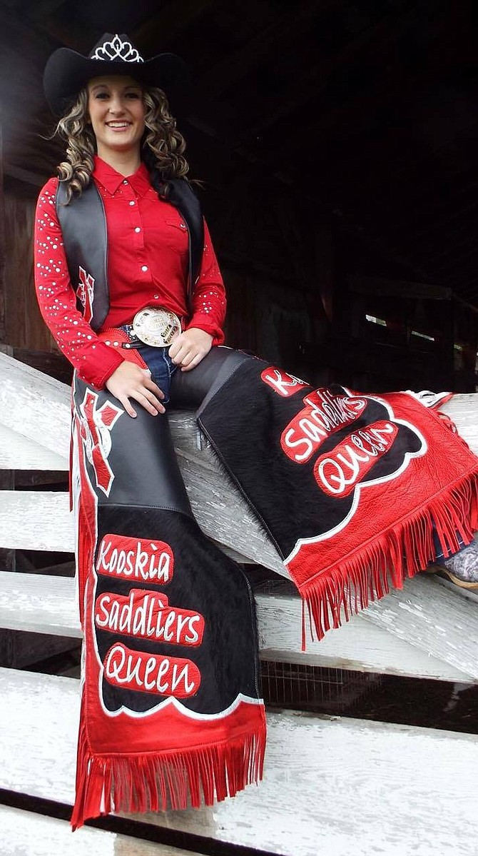 Mckenzie Cruson of Grangeville, a junior at Grangeville High School, has served as Kooskia Saddliers Queen for the past year. She will lead the parade at Kooskia Days this Saturday, Aug. 6.  Contributed photo