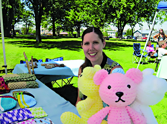 Contributed photo / Michelle Perdue Here, Renee Wright, vendor, sells her handmade items at the market.