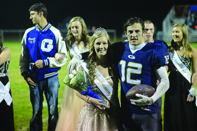 Grangeville High School seniors Katrina Frei and Luke Stokes were crowned homecoming queen and king at halftime of the football game Friday night, Oct. 7.