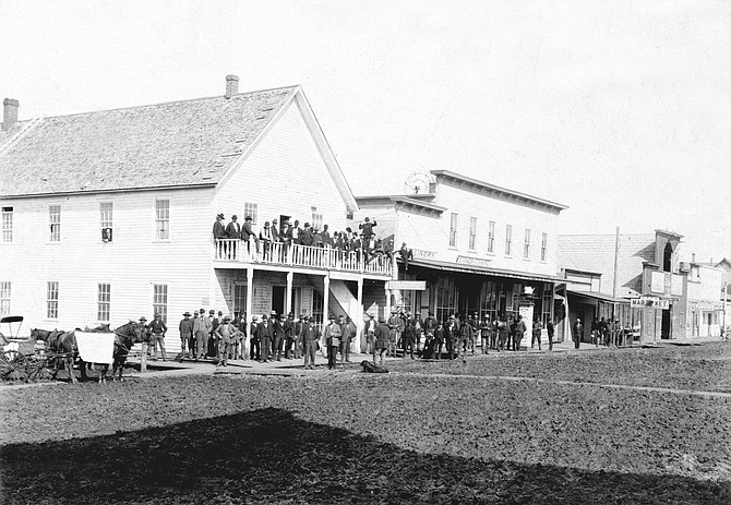 Free Press Photo  The first city election in Grangeville, April 5th, 1898. *** Have a photo you would like to see published in this spot? E-mail your historic photo with details to: Freepressnews@idahocountyfreepress.com.