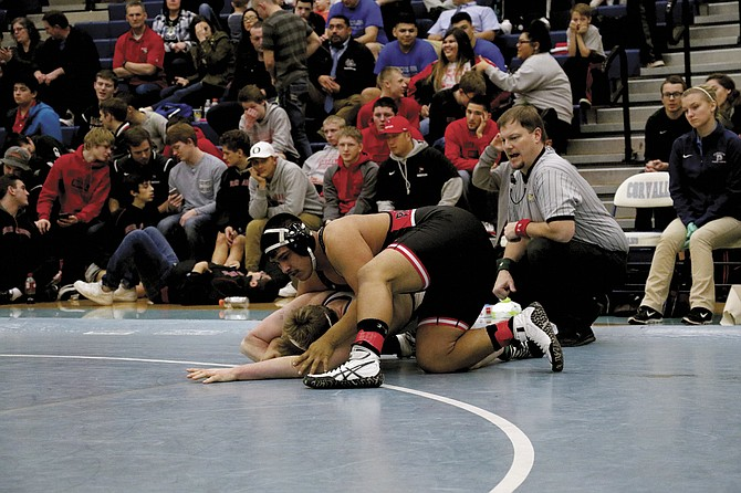 Central senior David Negrete won a district title for the Panthers.