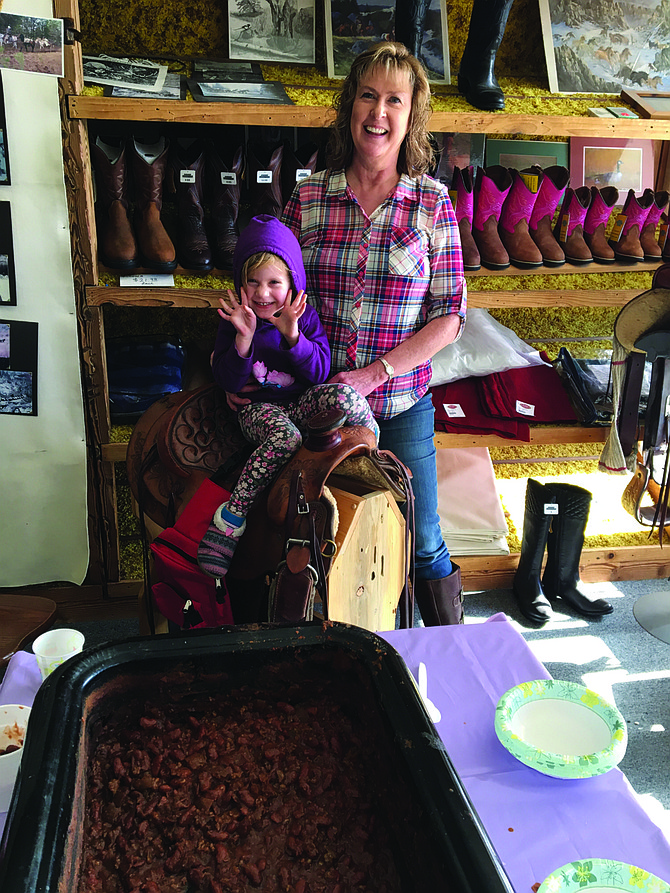 """Free Press / Lisa Adkison Winner of the Grangeville Merchants Chili Cookoff last weekend was Cindy Hake of Central IdahoProperties. Her chili was """"Cindy's Chili Chili Bang Bang."""" She is pictured here with her granddaughter, Rowan Hake."""