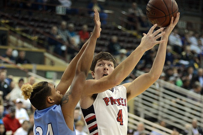 Prairie's Patrick Chmelik scored 11 points during the 1AD1 state title game against Lapwai last Saturday, March 4, in Nampa. Chmelik scored 18 against Wilder during the first round and had 18 rebounds during the semifinal against Valley according to Idaho High School Activities Association statistics.