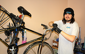 Calvin Lepinski has opened a downtown shop dedicated solely to bikes and bike repairs, and he is keeping it open from 10 a.m. to 6 p.m., seven days a week.