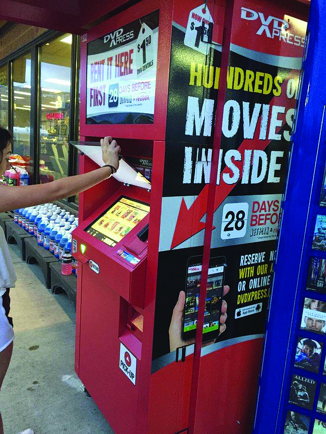 Check out Zip Trip's new DVD Express movie rental station in Grangeville.