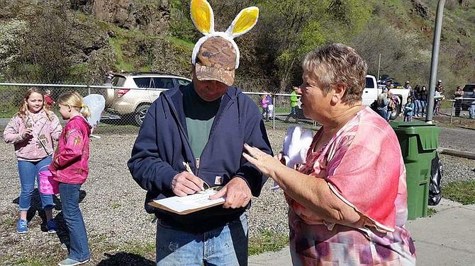Free Press / Toni Baker White Bird's annual Easter egg hunt had organized volunteers.