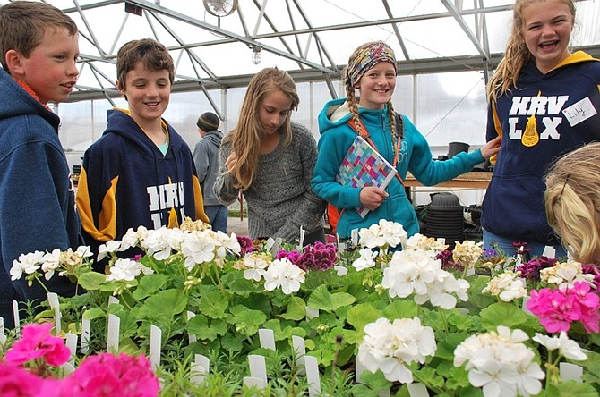 Students observe flowers grown in the Jackson Memorial Greenhouse at Columbia High School during the School Garden Symposium on Earth Day back in 2014. (Enterprise file photo)