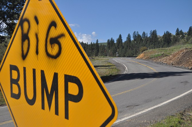 Watch your driving along the Harpster Grade. Underlying base problems are causing some roadway slippage at milepost 8 on State Highway 13. Slow your speed as the road dips and rises at two points in this location.
